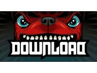 3 x Download Festival tickets - 9-12 June - weekend quiet camping + parking
