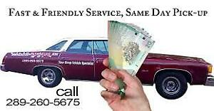 WE PAY CASH FOR YOUR VEHICLE