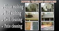 Pressure washing of homes, driveways and industrial equipment