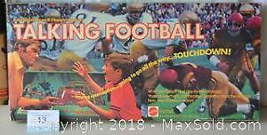 MATTEL TALKING FOOTBALL GAME, maybe from the 1970's or 1980's,