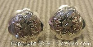 (148) Sterling Silver Etched Earrings