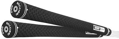 1-BOCCIERI BLACK/WHITE SECRET GRIP-GOLF GRIPS-HEAVY PUTTERS-Retail $12.99