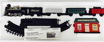 RARE 1991 New Bright Rio Grande Train Set #171- 5 Cars -16 Pieces Track Complete
