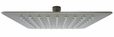 ALFI Solid Brushed Stainless Steel 8in Square Ultra Thin Rain Shower Head NEW