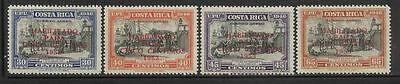 Costa Rica Mint Nh Columbus Overprint Set  C220   C223 Complete 1953 Airmails