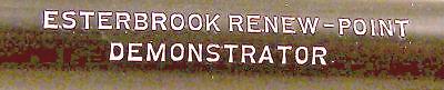 Esterbrook Renew Point Demonstrator