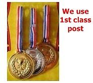 Prize School Award Sports Day Olympics Gold Silver Bronze Winner Plastic Medals