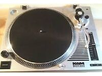 """2x Kam 12"""" turntables and 2x professional mixers"""