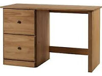 BRAND NEW SOLID PINE DESK WITH 2 DRAWERS