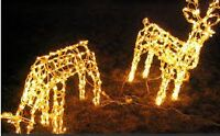 Christmas Reindeer Ornaments with lights (x2)