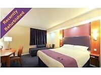 PREMIER INN HOTEL, SITTINGBOURNE - SAT 24TH - SUN 25TH MARCH - 1 FAMILY ROOM (FOR 4) 2 DOUBLE ROOMS