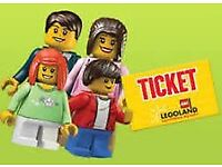 2 x Adult Legoland Tickets valid on 29/10/17