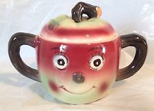 Apple Anthropomorphic sugar bowl with lid