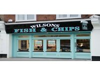Full Time Fish Fryer & Counter Assistant required for Wilsons Fish & Chips Shop in London E4 7BU