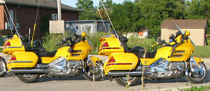 Goldwings 2 yellow his and hers 2001's with trailers.