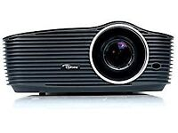 Optoma HD36 DLP Full HD 3D Projector with Optoma 92 Inch Screen. Good Condition.