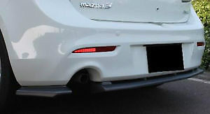 2010-2012 Mazda 3 Rear lip Single Exhaust