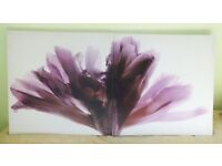 Flower Double Canvas Print Large Picture Wall Art