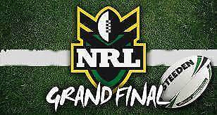 NRL Grand Final Tickets (2) Section 610-1 Row 16