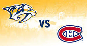 MONTREAL CANADIENS TICKETS vs NASHVILLE PREDATORS! PK'S RETURN!