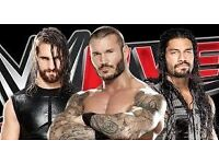 WWE LIVE, MANCHESTER ARENA, BLOCK 104, ROW B