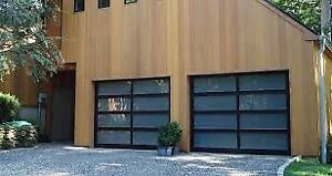 Modern Glass Garage Doors