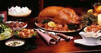 Thanksgiving feast at Blue Mountain cottage with hot tub