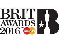 Brit Awards 1 ticket block 407