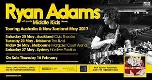 1x Ryan Adams Ticket Sydney / Hordern Pavillion Redfern Inner Sydney Preview