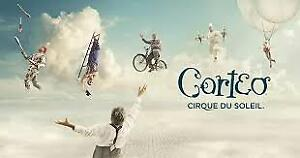 2 tickets to Corteo in Oshawa June 23/18