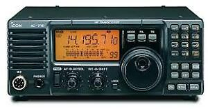 iCom 718 HF All Band Transceiver, Power, Case, Cables, Mic, Etc