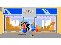 Sales Assistant (shop) for Fri-Sat-Sun Evenings (16:00 to 23:00)