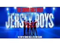 JERSEY BOYS TICKETS , LONDON (THURSDAY 23RD FEBRUARY 17 @ 7:30PM) ONLY £45 EACH (FACE VALUE £67.50)