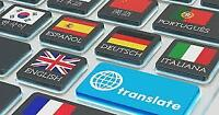Translation Services - English, French, Spanish, Italian Etc
