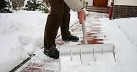 Snow removal person needed, $18/hr to start.