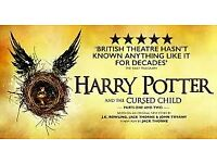 x 2 Tickets (Stalls) - Harry Potter and the Cursed Child Parts 1&2 - Sat 19th May