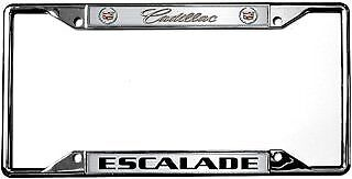Cadillac Escalade License Plate Frame : Chrome