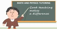 MATH AND PHYSICS TUTORING
