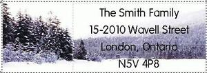 150 Beautiful Snow Scene 2 Return Address Labels