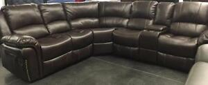 Sectional with console Starting bid: $1,582.00 Regular Retail $3099