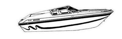 7oz STYLED TO FIT BOAT COVER LAVEY CRAFT 24' NUERA I/O 2006-2007