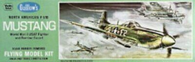 """P-51D Mustang 17"""" Guillows #905 Wood Model Airplane Kit, used for sale  Shipping to Canada"""