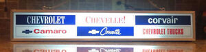 LIGHTED CHEVROLET SIGN.