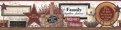 COUNTRY FRIENDS & FAMILY Wallpaper Border BY YORK