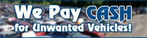 Top Cash for unwanted and scrap vehicles