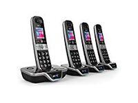 BT 8600 Advanced Call Blocker Cordless Home Phone with Answer Machine (Quad Handset Pack