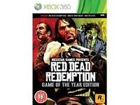 WANTED : RED DEAD REDEMPTION FOR XBOX 360