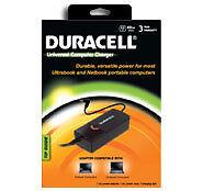 DURACELL UNIVERSAL COMPUTER CHARGER,  40 WATTS, DURABLE, VERSATI