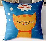 New- Cat Themed Pillow Covers **PILLOW COVER ONLY**
