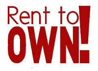 RENT TO OWN AVAILABLE!!
